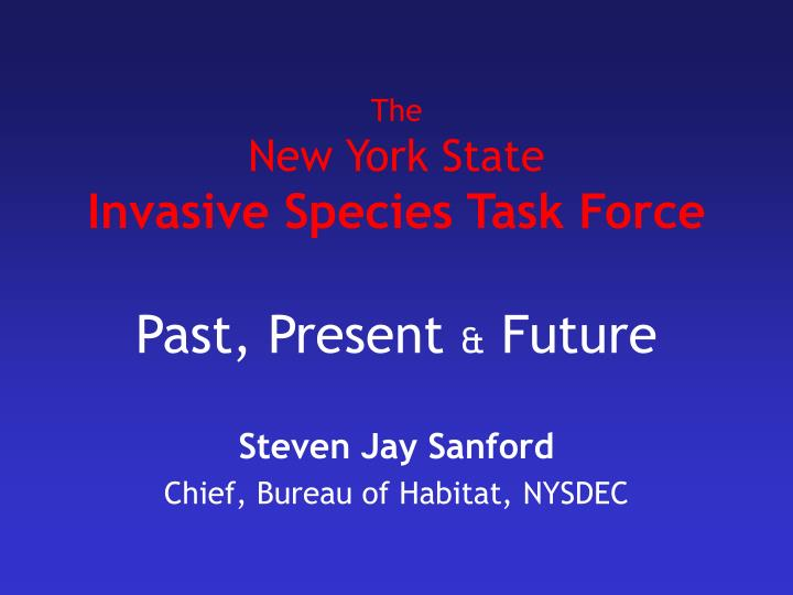 the new york state invasive species task force n.