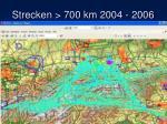 strecken 700 km 2004 2006