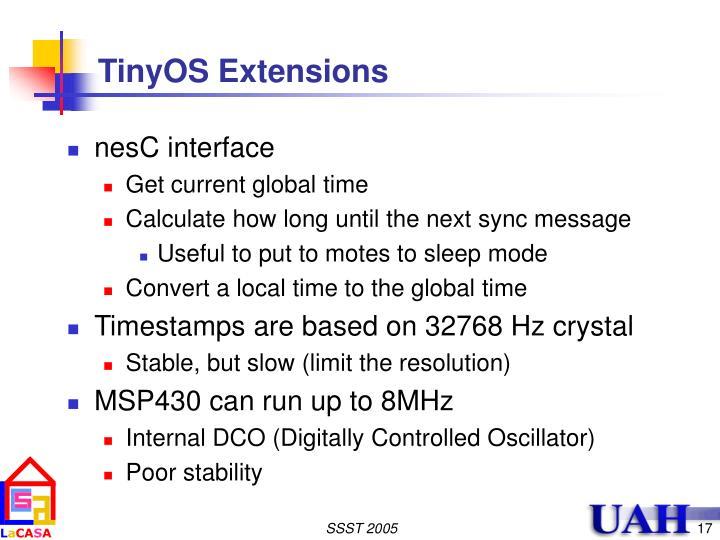 TinyOS Extensions