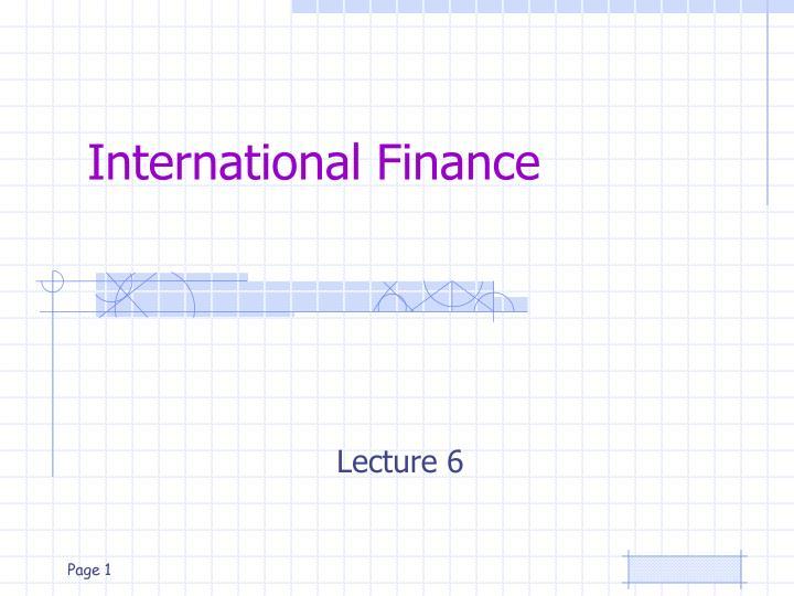 international finance n.