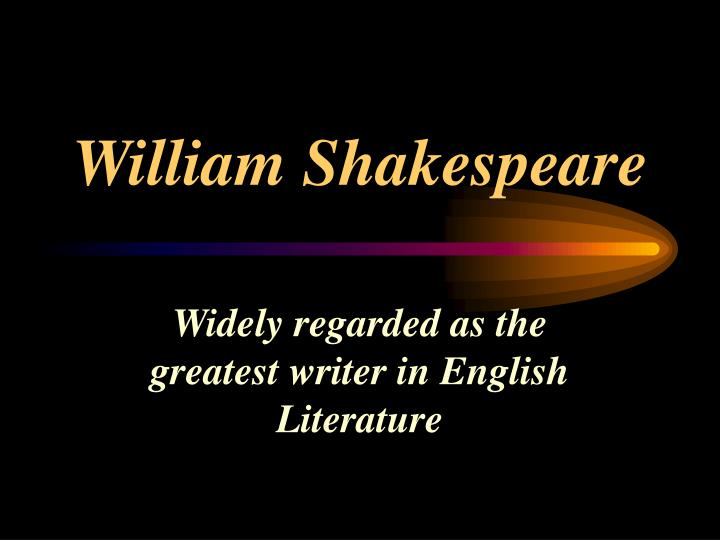 william shakespeare n.