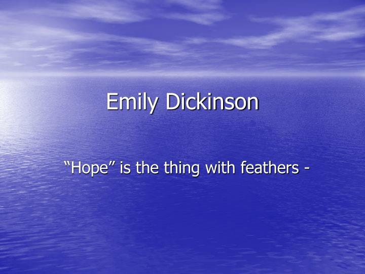 emily dickinson n.