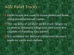 agv pallet trucks