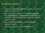 driverless trains