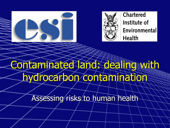 Contaminated land dealing with hydrocarbon contamination