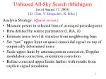 unbiased all sky search michigan as of august 17 2003 d chin v dergachev k riles