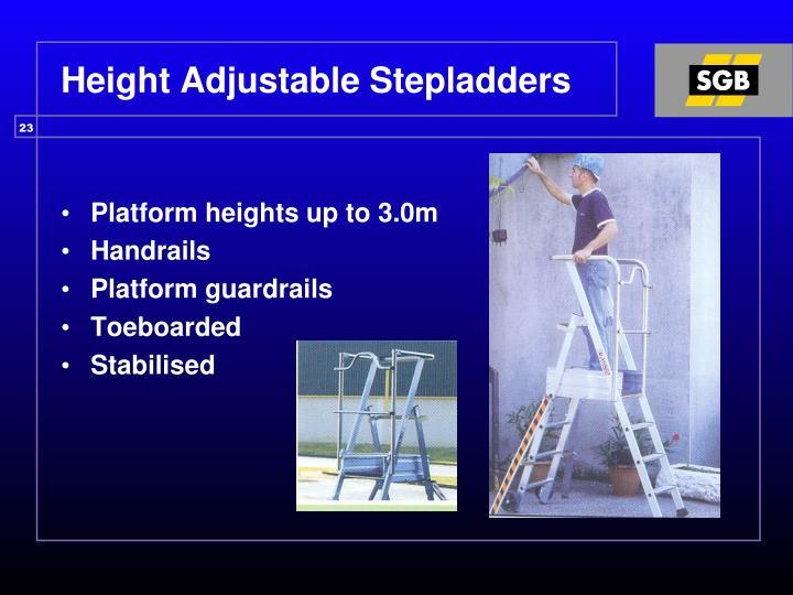 Height Adjustable Stepladders
