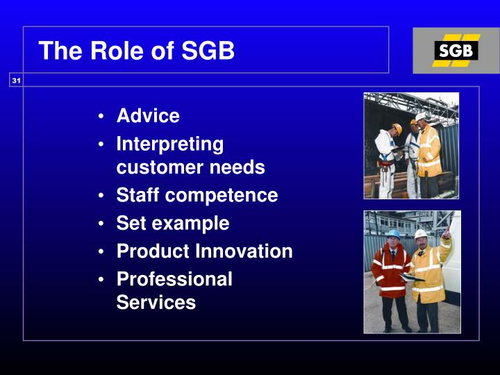 The Role of SGB