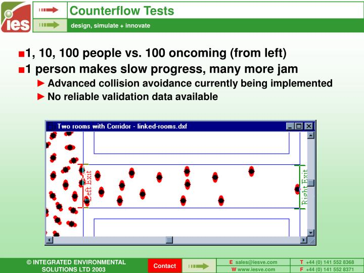 Counterflow Tests