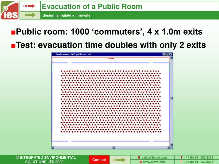 Evacuation of a Public Room