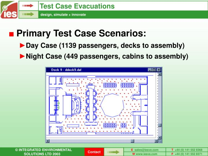 Test Case Evacuations
