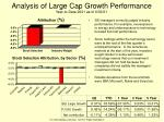 analysis of large cap growth performance year to date 2001 as of 6 30 01