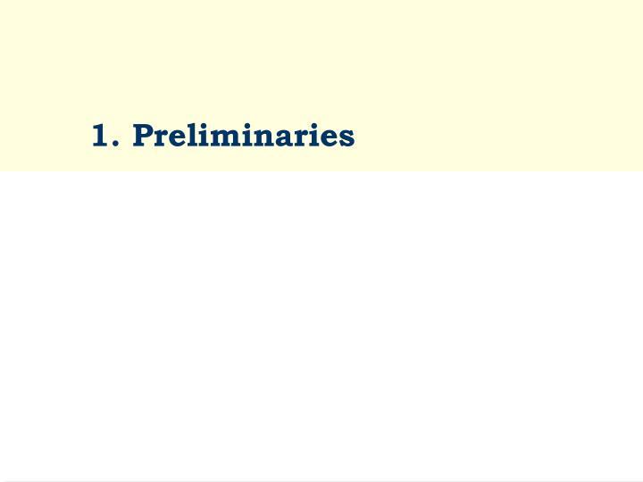 1 preliminaries