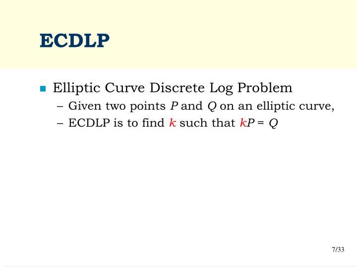 ECDLP