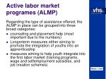 active labor market programes almp