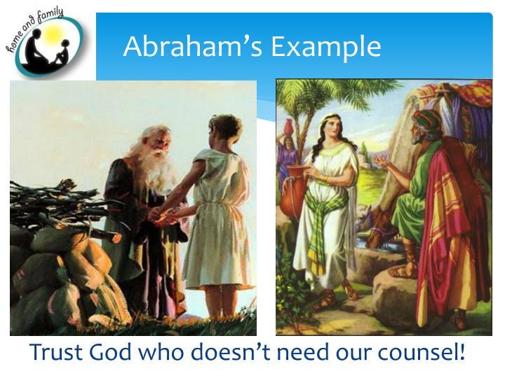 Abraham's Example