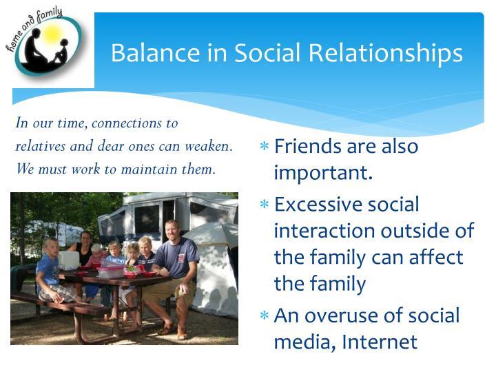 Balance in Social Relationships