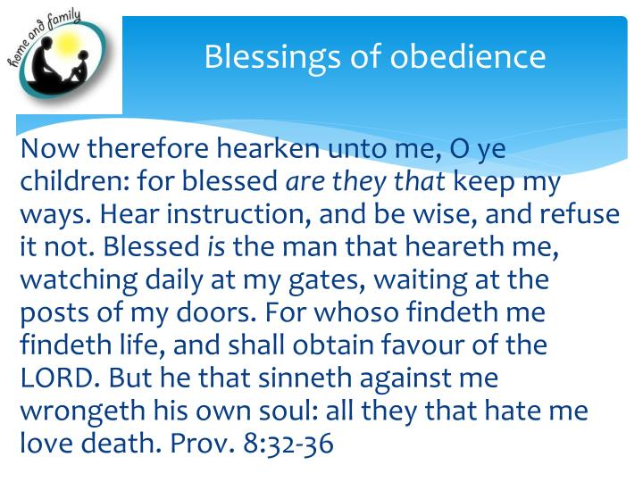 Blessings of obedience
