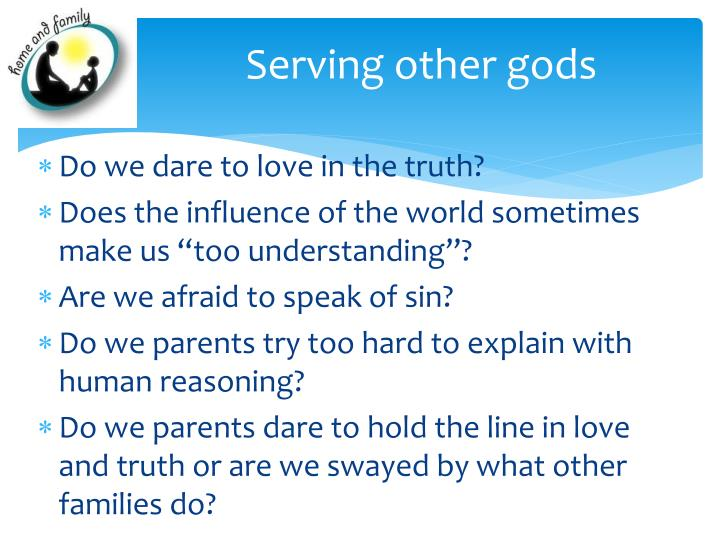Serving other gods