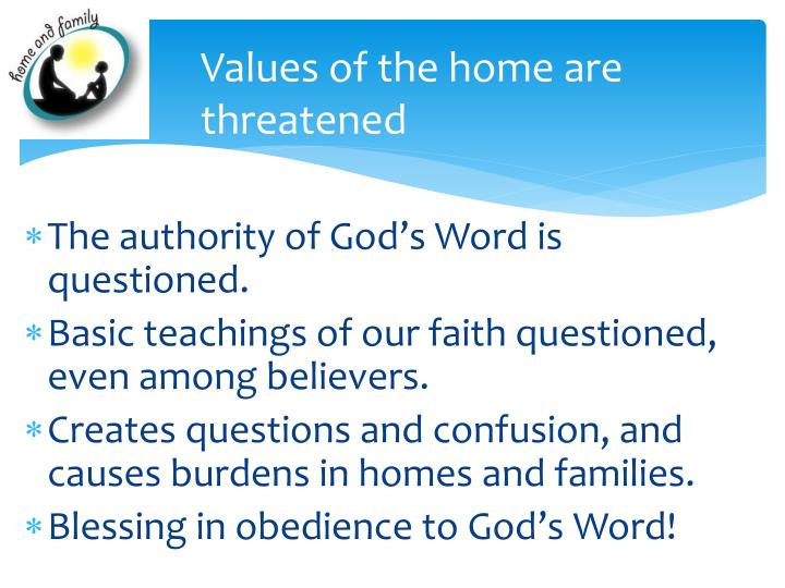 Values of the home are threatened