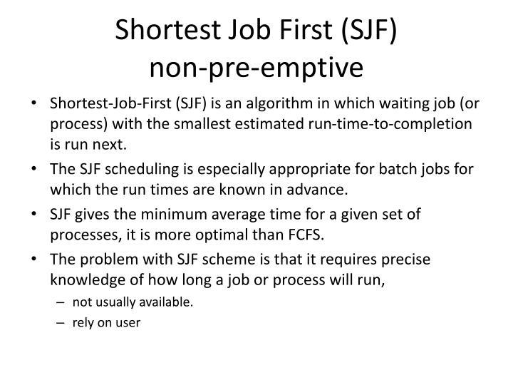 Shortest Job First (SJF)