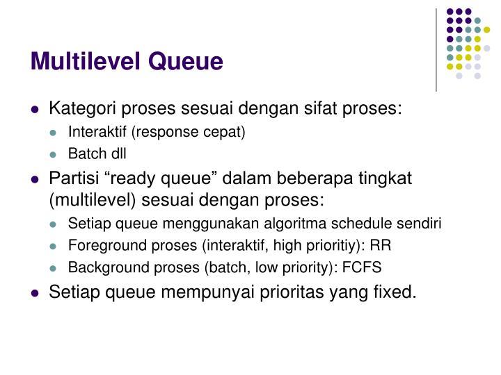 Multilevel Queue