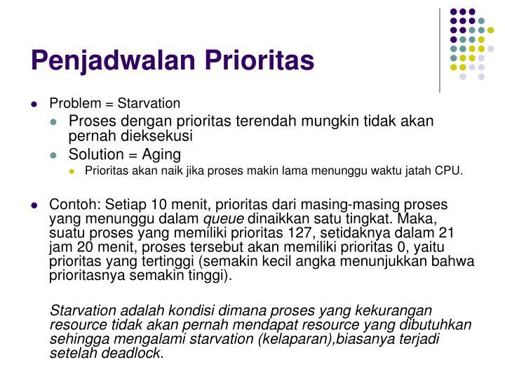 Penjadwalan Prioritas