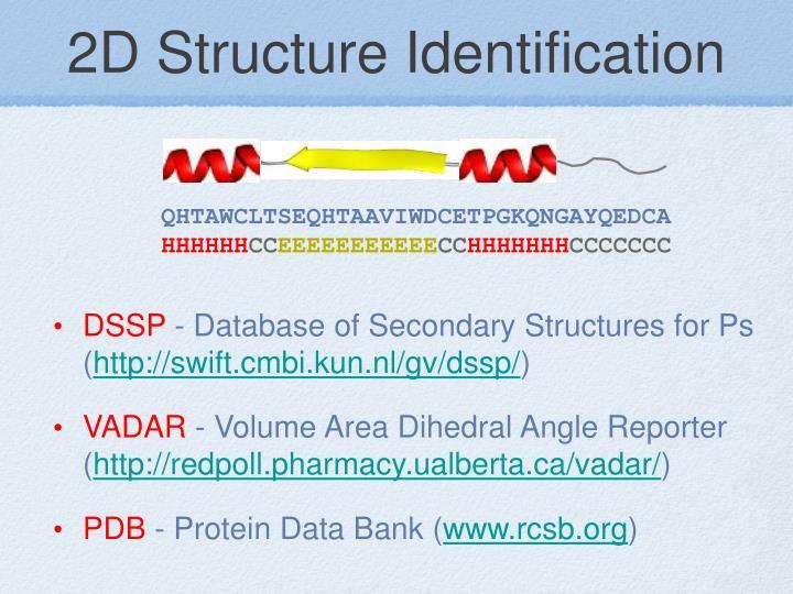 2D Structure Identification