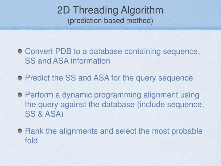 2D Threading Algorithm
