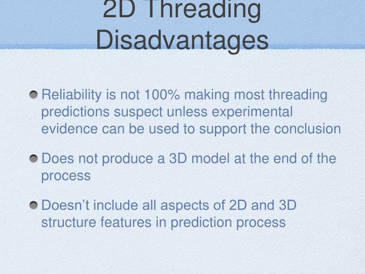 2D Threading Disadvantages
