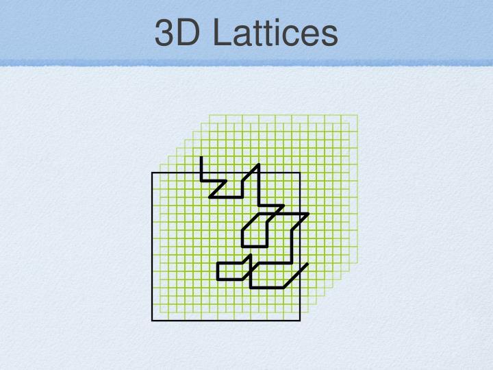 3D Lattices
