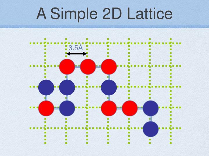 A Simple 2D Lattice