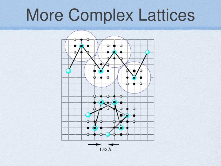 More Complex Lattices