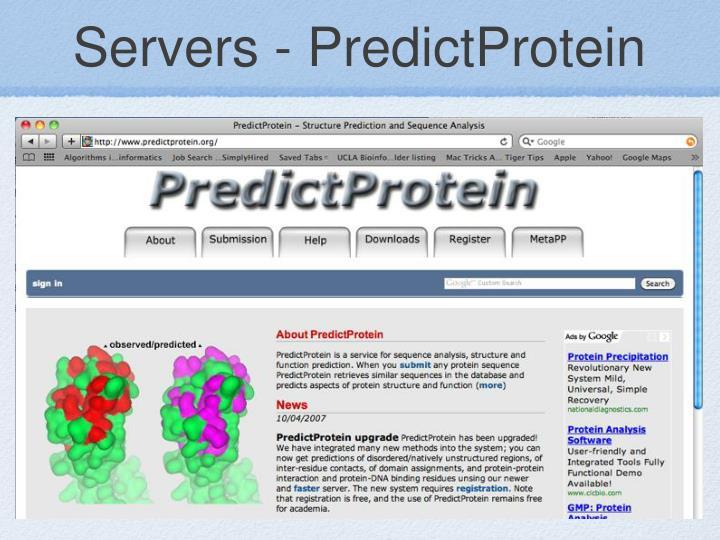 Servers - PredictProtein