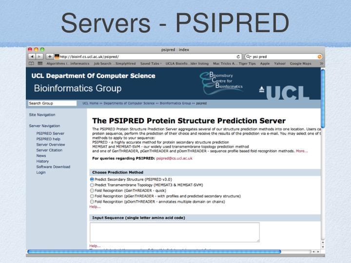Servers - PSIPRED