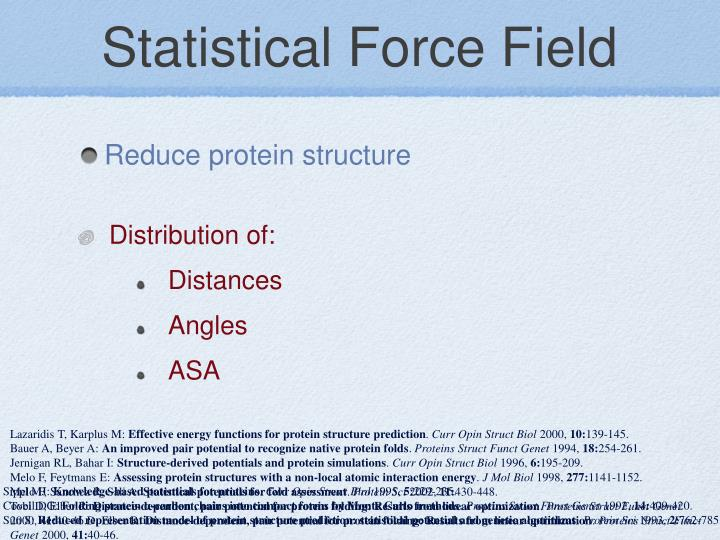 Statistical Force Field