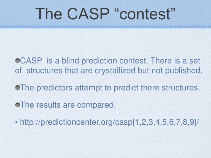 "The CASP ""contest"""
