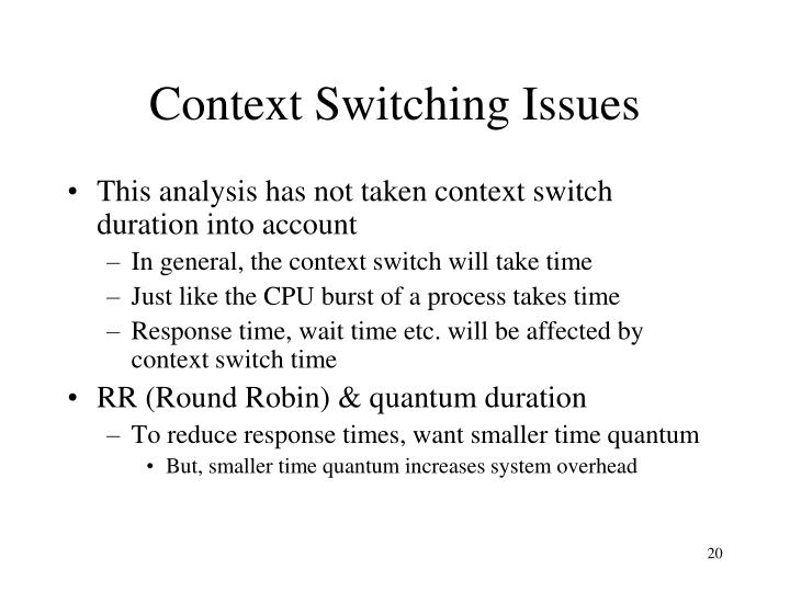 Context Switching Issues