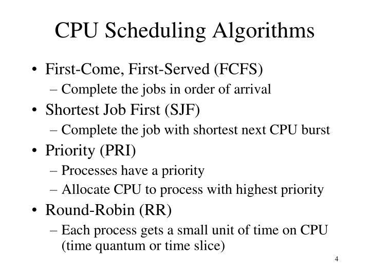 CPU Scheduling Algorithms