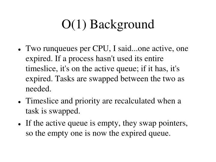O(1) Background