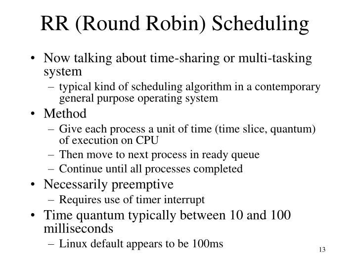 RR (Round Robin) Scheduling