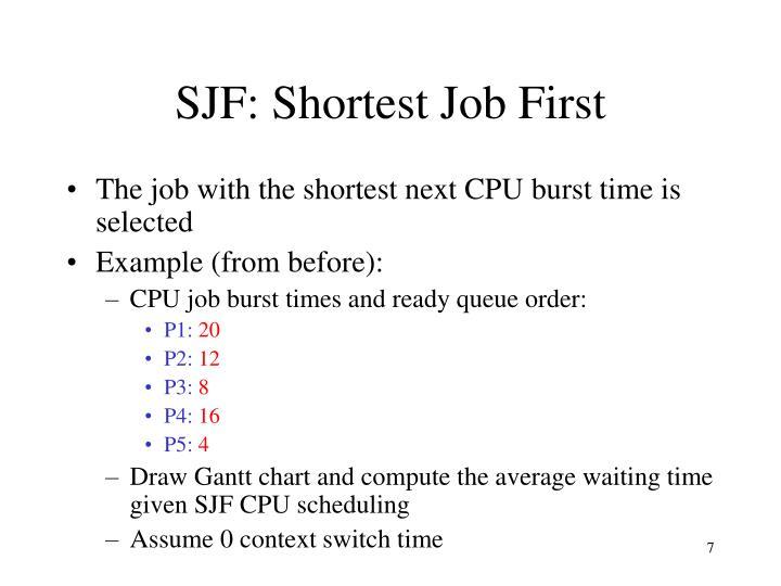 SJF: Shortest Job First