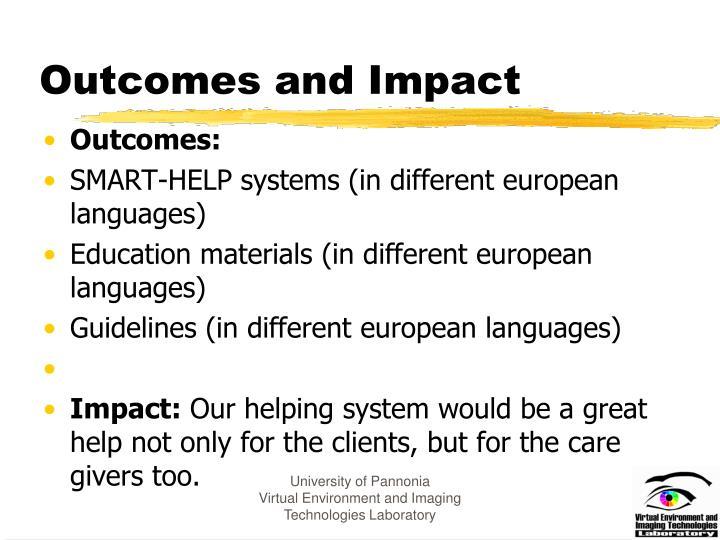 Outcomes and Impact