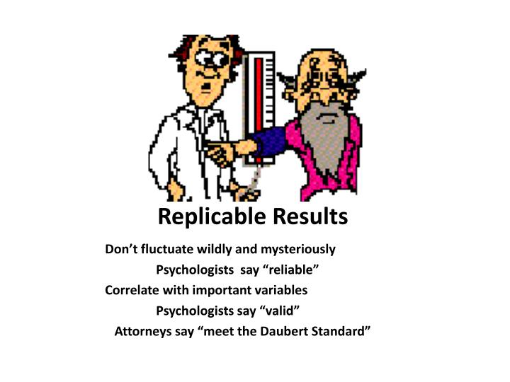 Replicable Results