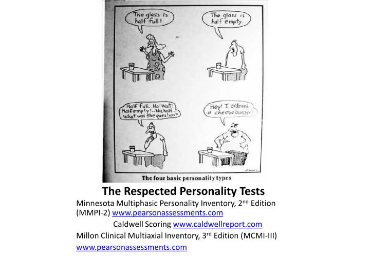 The Respected Personality Tests