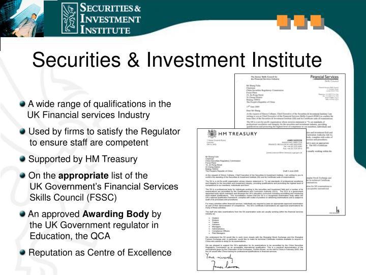 Securities & Investment Institute