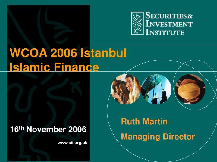 WCOA 2006 Istanbul