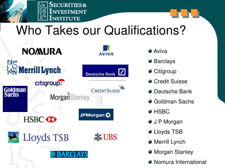 Who Takes our Qualifications?