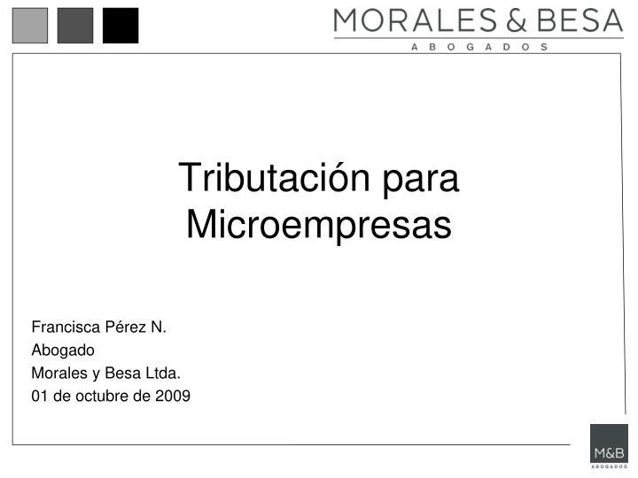 tributaci n para microempresas n.