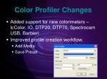 color profiler changes